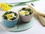 Spinach & Nutmeg Baked Eggs
