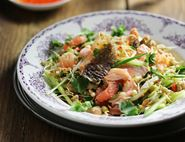 Crispy-Skinned Thai Salmon Salad