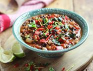 Black Bean, Pepper & Tomato Chilli