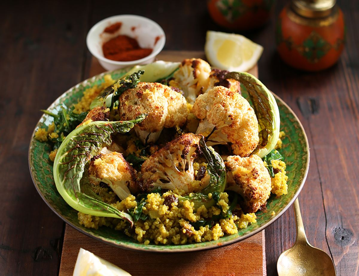 Curried Coconut & Roast Cauliflower Quinoa