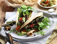 Grilled Asparagus & Shiitake Tacos