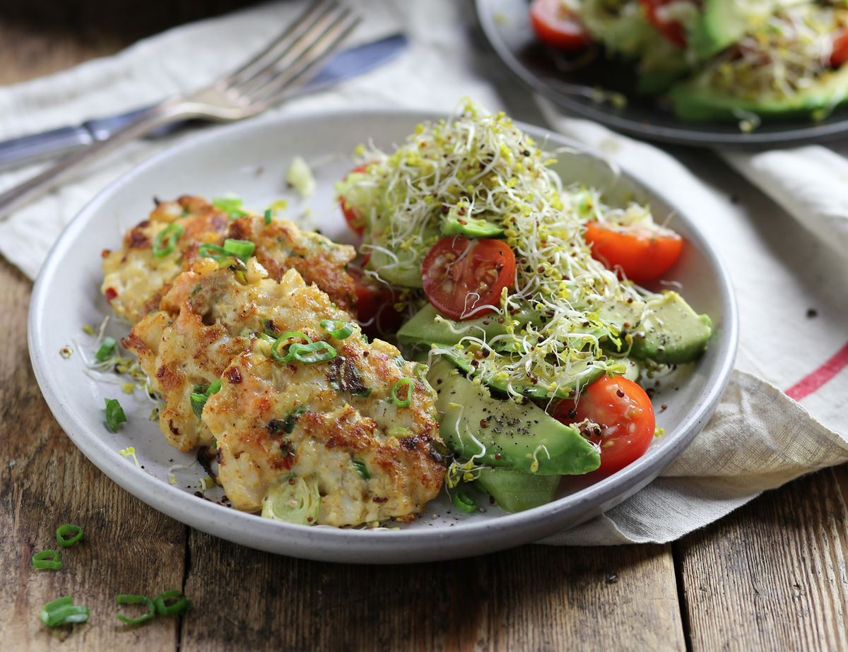 Thai Fish Fritters with Hot & Sour Avocado