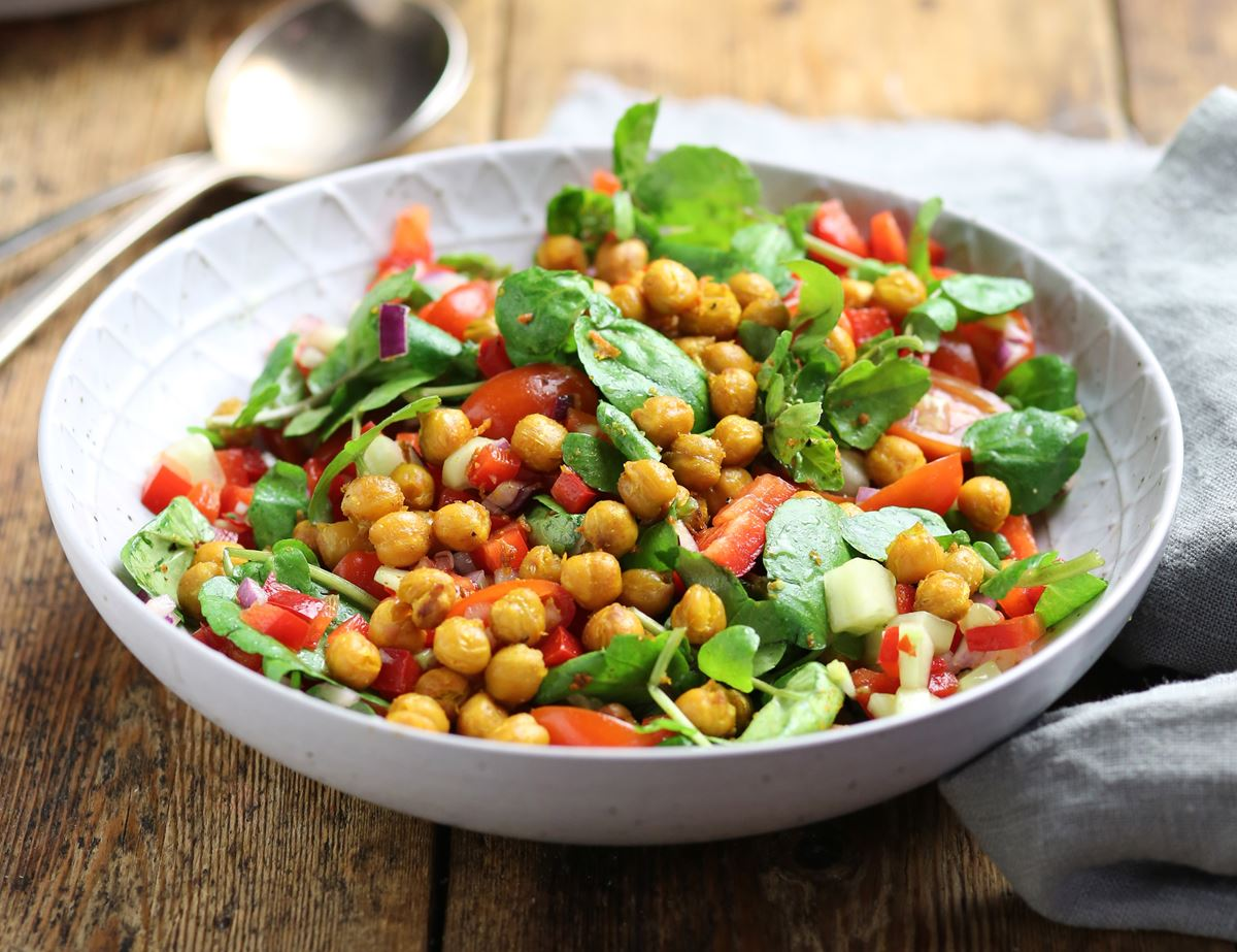 Curried Chickpea Chop Chop Salad