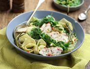 Gremolata Poached Chicken Breasts & Tortelloni