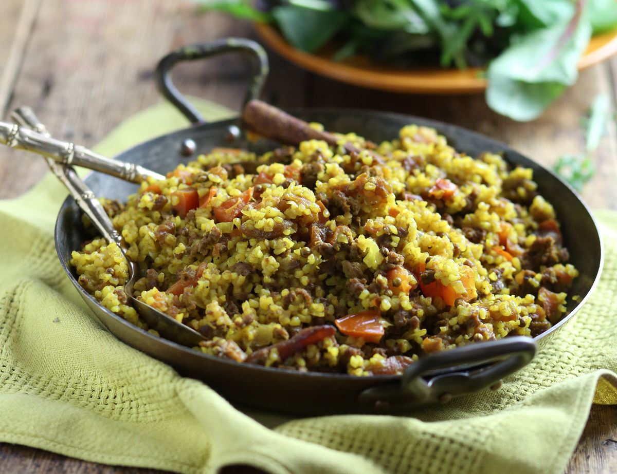 Spiced Beef Pilaf