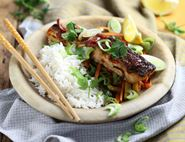 Grilled Thai Salmon with Stir Fried Veg