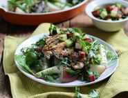 Griddled Chicken with Rhubarb & Cucumber Salsa