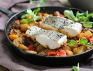 Spanish Style Hake with Smoky Paprika Potatoes