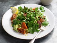 Cajun Sweet Potato Salad with Avocado Dressing