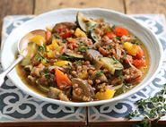 Ratatouille Braised with Green Lentils
