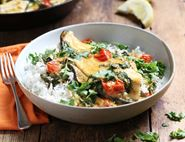 Plaice with Goan Coconut Sauce