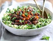 Lamb, Apricot & Honey Tagine with Minted Bulgar Wheat