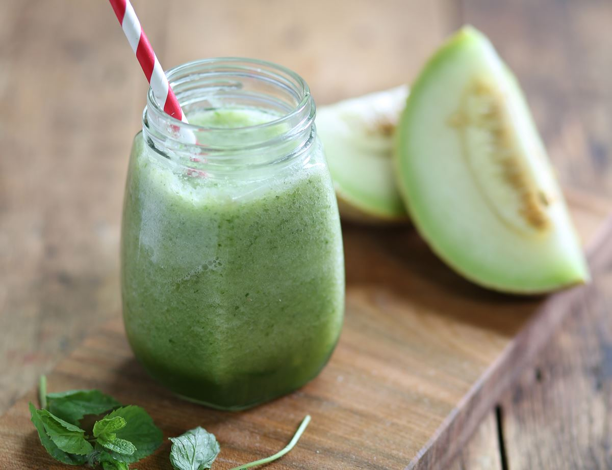 Melon, Cucumber & Mint Smoothie
