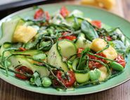 Samphire & Broad Bean Bowl with Cheesy Polenta Croutons