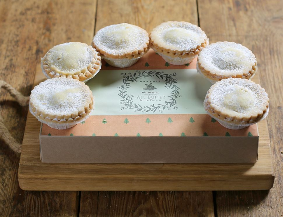 Mince Pies, Organic, Authentic Bread Co. (pack of 6)
