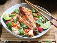 Sticky Grilled Teriyaki Haddock with Stir-Fried Noodles