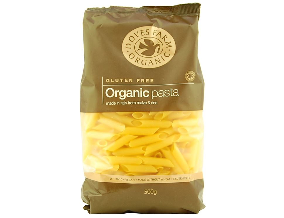 Maize & Rice Penne, Organic, Doves Farm (500g)