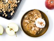 Baked Apples with Miso Butterscotch with Almond Crumble