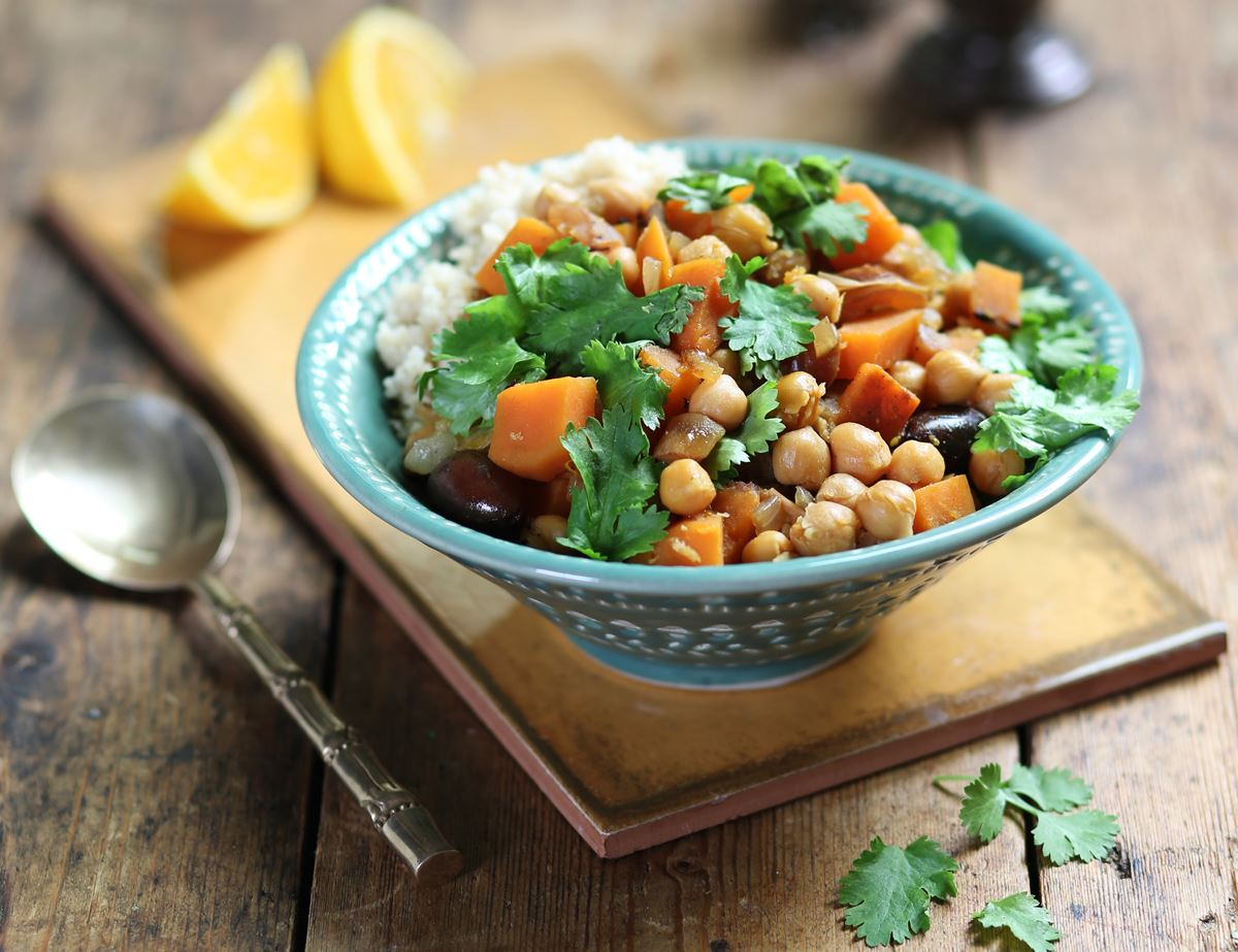 Chickpea, Date & Sweet Potato Tagine