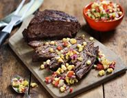 Smoky Brisket with Mexican Sweetcorn Salsa