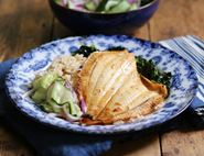 Grilled Plaice Donburi with Quick Pickled Veg