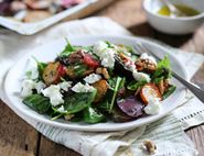 Rainbow Beet, Walnut & Sheep's Cheese Salad