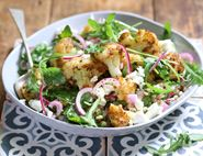 Crispy Cajun Cauliflower with Feta & Herbed Barley