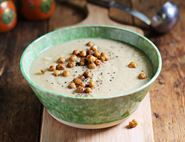 Spiced Parsnip & Chickpea Soup