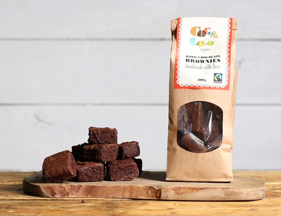 Dark Chocolate Brownies, Organic, Cocoa Loco (200g)