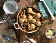 Beef Casserole with Cheddar & Rosemary Dumplings