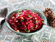 Shredded Beetroot, Apple & Horseradish Salad