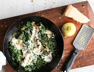 Creamed Spinach with Lemon Breadcrumbs