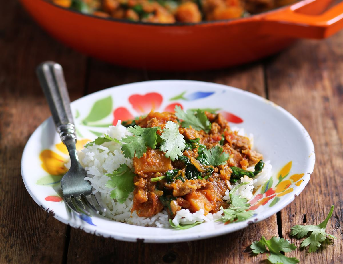 Lamb, Squash & Spinach Curry