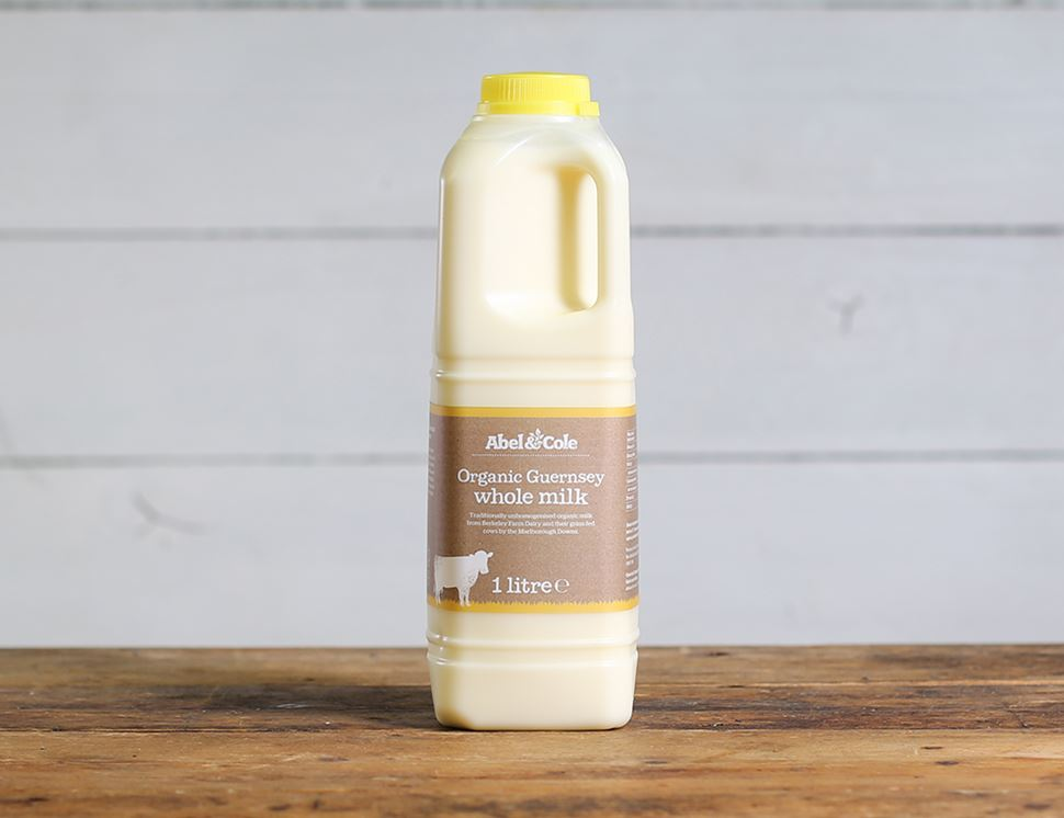 Guernsey Milk, Organic, Whole (1 litre)