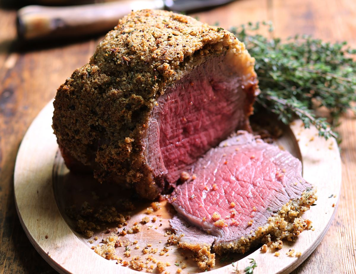 Topside with Mustard & Thyme Crust