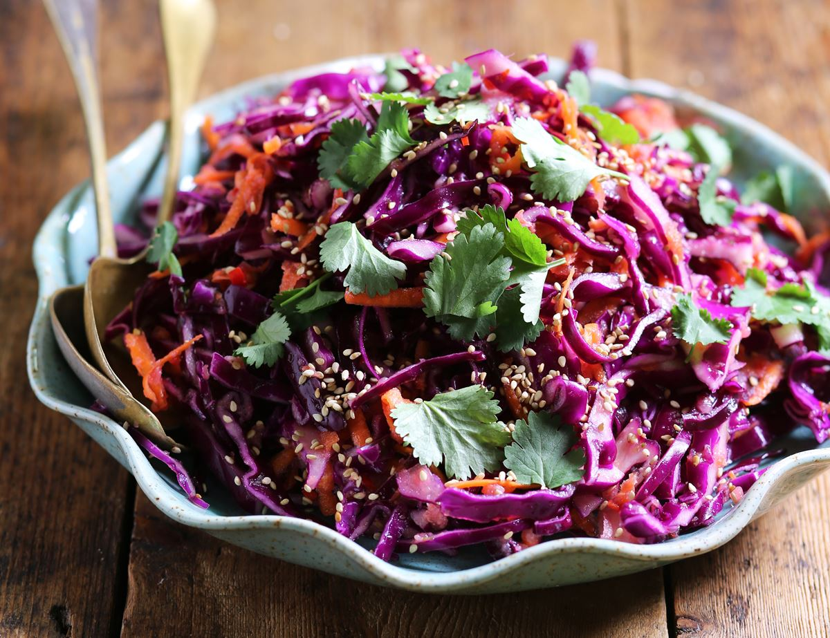 Korean Red Cabbage Slaw Recipe Abel Cole