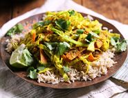 Speedy Keralan Savoy Cabbage & Coconut Curry