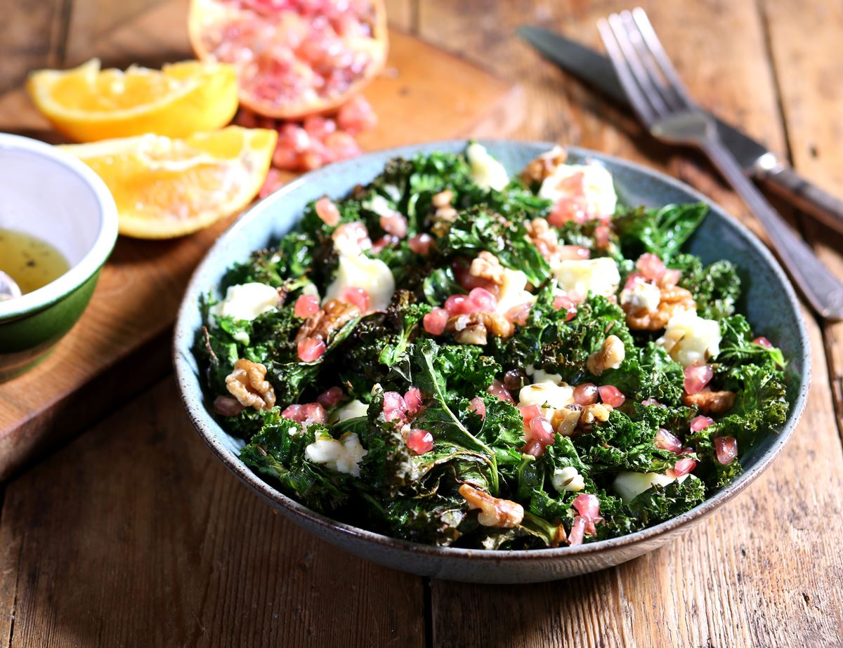 Roast Kale & Medita Sheep's Cheese Salad