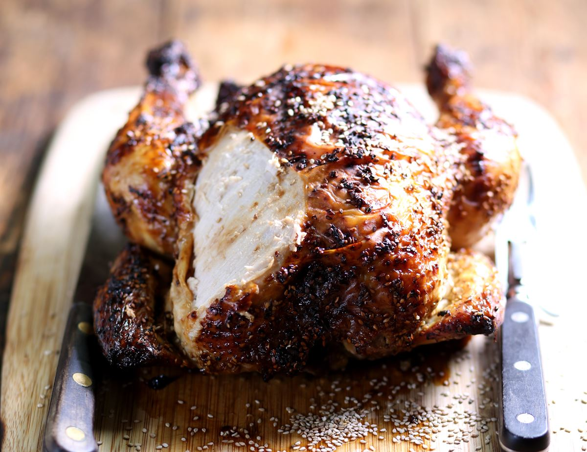 Honey, Ginger & Tamari Roast Chicken