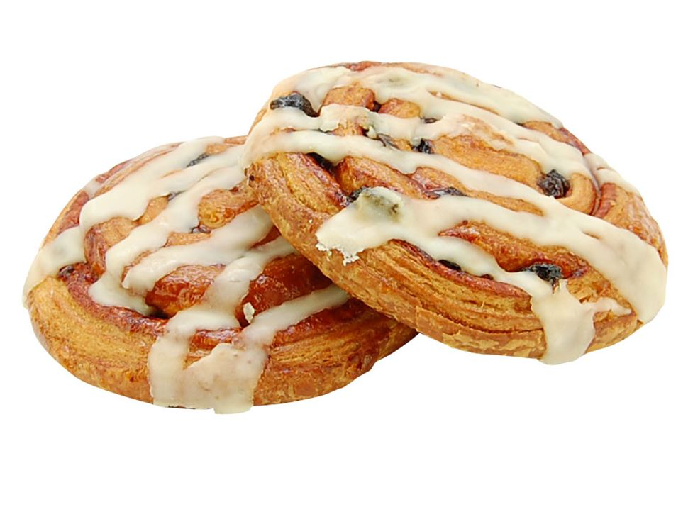 Cinnamon & Raisin Danish, Organic, Authentic Bread Co. (pack of 2)