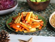 Roast Carrots & Parsnips with a Honeyed Orange Glaze
