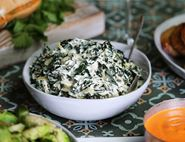 Creamed Greens with Nutmeg & Mustard