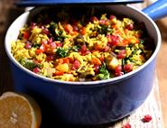 Jewelled Persian Rice Pilaf with Pomegranate
