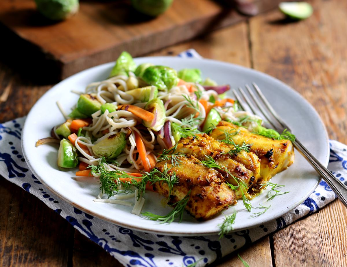 Vietnamese Style Hake with Turmeric & Dill