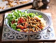 Roast Chickpeas with Falafel Spices & Sumach Tomato Salad