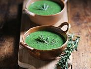 Roasted Garlic, Spinach & Buckwheat Soup