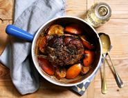 Roast Lamb Shoulder with Blood Oranges