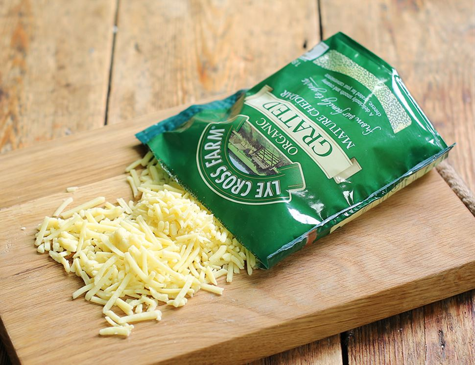 Grated Mature Cheddar, Organic, Lye Cross Farm (180g)