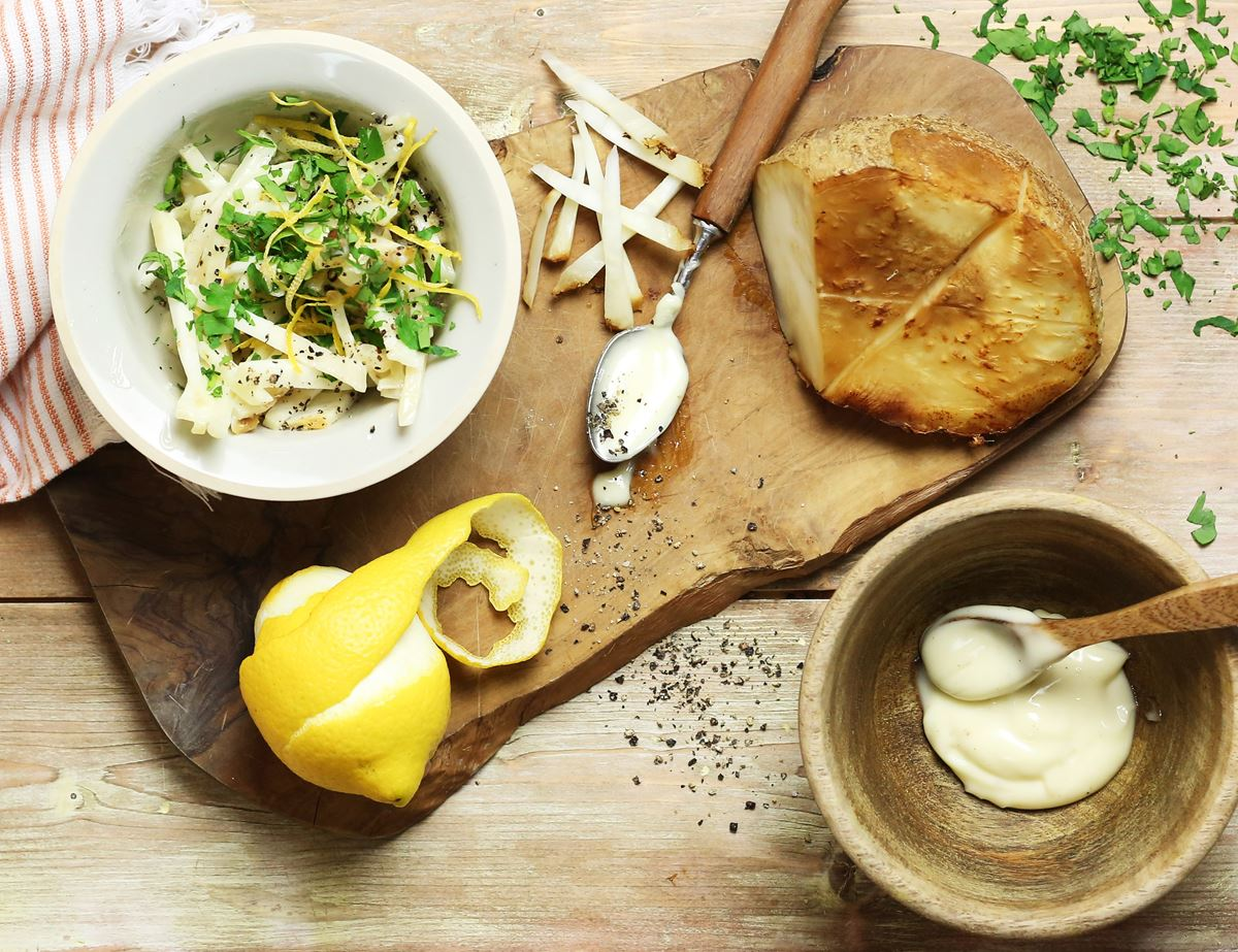 Lemon & Rosemary Smoked Celeriac Remoulade