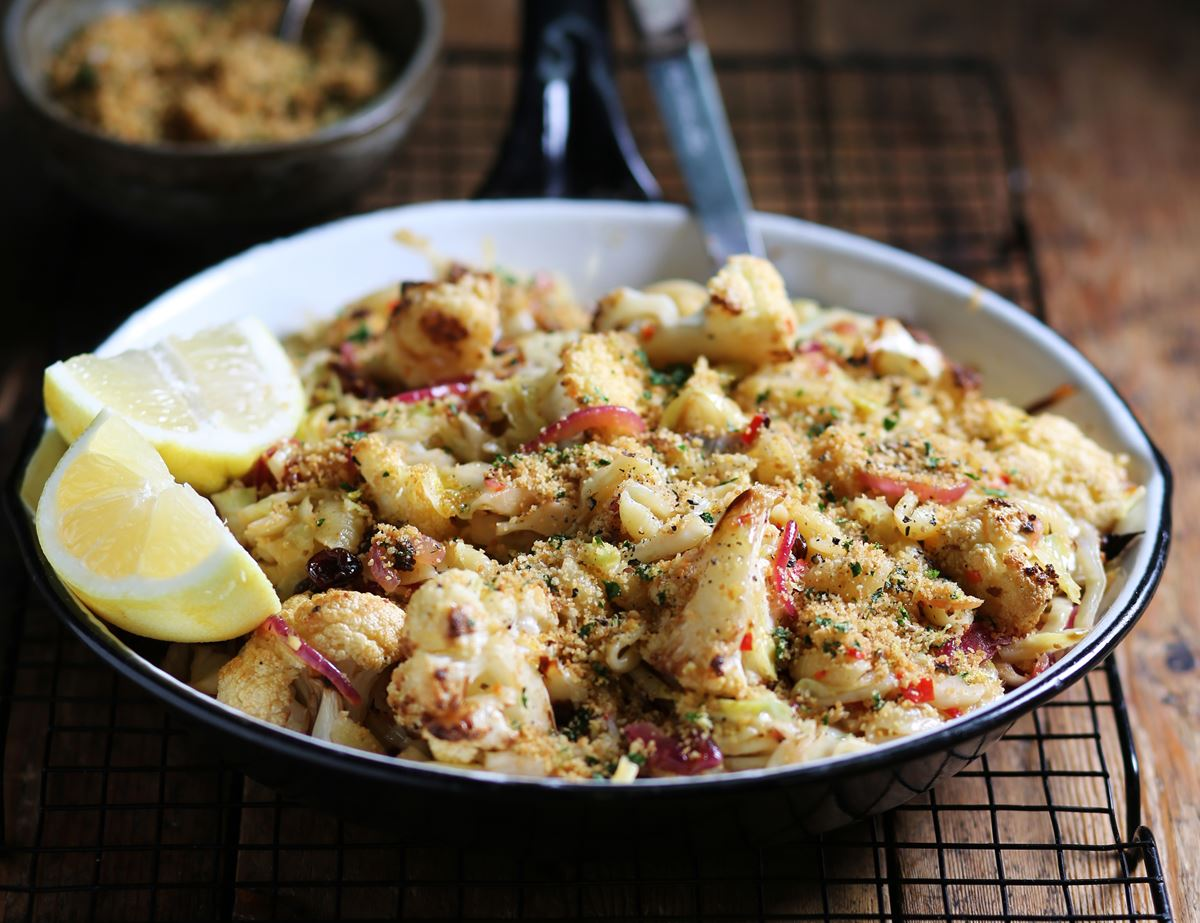 Sicilian Gnocchetti with Cauliflower & Parsley Breadcrumbs
